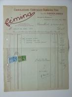 1942 Factuur Invoice Fémina Chocolaterie Confiserie Bonbons Sansen Ingels Bruxelles WO2 - Belgique
