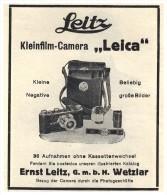 Original Werbung - 1930 - LEICA Camera Von Ernst Leitz In Wetzlar !!! - Fotoapparate