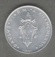 VATICANO 5 LIRE 1974 - Vaticano