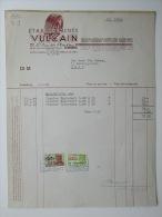 1949 Factuur Invoice Etablissements Vulvain Reliefdruk Pneus Banden Ledeberg Gent Gand - Belgique