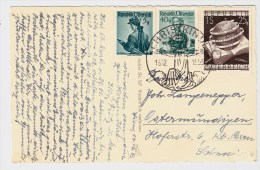 Österreich, Christkindl, 16.12.53, Ausland-Postkarte , S585 - 1945-60 Briefe U. Dokumente