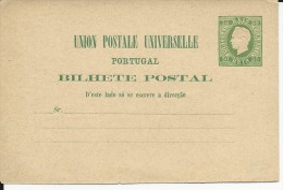 PORTUGAL - 1879 - CARTE ENTIER POSTAL