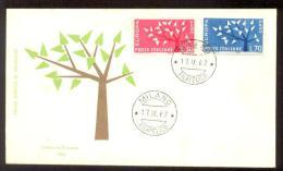 1962 ITALY EUROPA CEPT FDC - 6. 1946-.. Repubblica