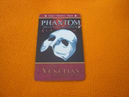 U.S.A. - Las Vegas Hotel & Casino magnetic key card (Phantom mask red)
