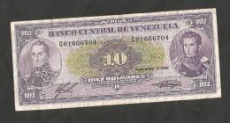 VENEZUELA - BANCO CENTRAL De VENEZUELA - 10 BOLIVARES (1988) - Venezuela
