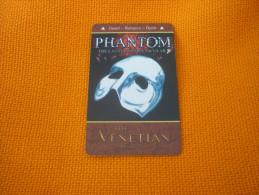 U.S.A. - Las Vegas Hotel & Casino magnetic key card (Phantom mask brown)