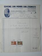 1951 Factuur Invoice Garage Edmond Van Meenen Vulcanisatie Bandack Regommeeren Pneus Banden Gent Gand - Belgique