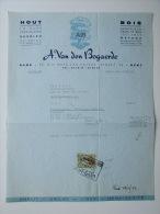 1953 Factuur Invoice Van Den Bogaerde Hout Triplex Bois Gent Gand - Belgique