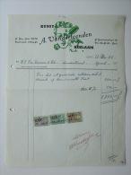 1961 Factuur Invoice Kunst Reklaam Vanderleenden Reclamebureau Publiciteit Gent Gand - Belgique