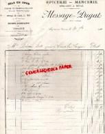 23 - AUZANCES - FACTURE EPICERIE MERCERIE- MESSAGE-DUGAT-SELS EN GROS JOUETS D' ENFANTS-LIBRAIRIE-1911 - France