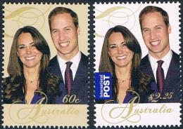 Australie - Mariage De S.A.R. Le Prince William De Galles Et De Catherine Middleton 3435/3436 ** - Neufs