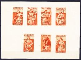 D - Saargebiet 1934 Volkshilfe Probedruck Kleinbogen Braunorange Postfrisch Falzspur Im Rand - 1920-35 Société Des Nations