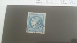 LOT 232884 TIMBRE DE FRANCE OBLITERE N�45C VALEUR 70 EUROS