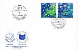 50 Ans CVRIA 1952-2002  Fdc Cour De Justice Des Communautes Europeennes EGKS - European Ideas