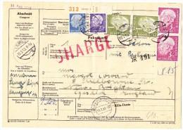 D - Paketkarte Chargé 10.2.1959 Lemgo Nach New-Brighton GB - Lettres & Documents