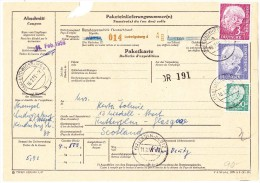 D - Paketkarte 10.2.1959 Ludwigsburg Nach Glasgow Schottland - [7] République Fédérale