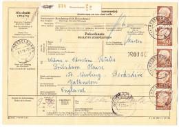 D - Paketkarte 29.1.1959 Wesselbüren Nach Newburg GB - [7] République Fédérale
