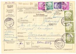 D - Paketkarte 29.1.1959Schleswig Nach Boncath GB - Lettres & Documents
