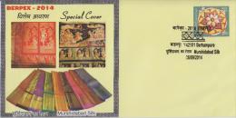 Inde  2014   Textiles  Murshidabad Silk Cloth  Cover  #  59044 India  Indien - Textile