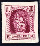 Saargebiet Essays 10 Fr. ** Ungezähnt Dunkelrosa - Sarre