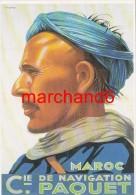 Maroc Cie De Navigation Paquet Par Viano Vers 1932 éditeur Clouet - Autres