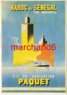 Maroc Et Sénégal Cie De Navigation Paquet Par J Tonelli Vers 1946 éditeur Clouet - Autres