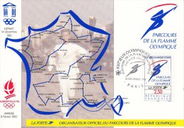 OLYMPISCHE SPIELE-OLYMPIC GAMES, FRANCE, 1992, Special Cancellation !! - Winter 1992: Albertville