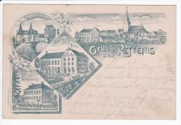 CP - Gruss aus KETTENIS  ALT !!! Reichspost 1899