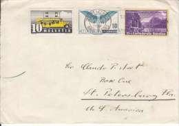 CH- PAR AVION-POUR ST PETERSBOURG EN FLORIDE-USA-MULTI AFFRANCHISSEMENT - Poste Aérienne