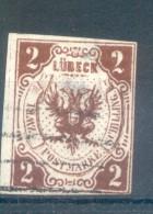 FALSO FALSCH LUEBECK LUBECK VILLE LIBRE AÑO 1859 YVERT NR. 3 OBLITERE RARE COTATION: EUROS 450