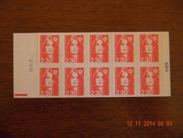 France 1990 - Carnet Marianne N° 2630-C2 (2630 C 2) Avec RGR-2 Au Recto - Neuf** 2 Scans - Markenheftchen