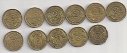 2 Francs Morlon De 1931 à 1941 (Série Complète ) - France