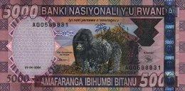Rwanda 5000 Francs 2004 Pick 33 UNC - Rwanda