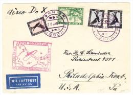 DR Luftpost DO X 30.1.1931 Dornier Flugschiff Brief Nach Philadelphia USA - 1. Übersee Flug Europa Amerika - Poste Aérienne