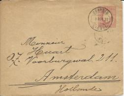 PORTUGAL - 1892 - ENVELOPPE ENTIER POSTAL 143x110 De LISBOA Pour AMSTERDAM (HOLLANDE)