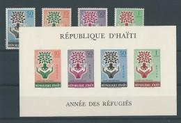 Haïti: 431/ 432 + PA 187/ 188 + BF 13 ** Année Des Réfugiés - Refugees