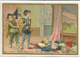 CHROMOS CHICOREE EMILE BONZEL (NORD) - CITATIONS CELEBRES - IL PARAIT PLUS GRAND MORT QUE VIVANT (HENRI III) - Trade Cards