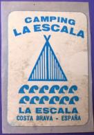 HOTEL RESIDENCIA PENSION LA ESCALA 0 COSTA BRAVA SPAIN LUGGAGE LABEL ETIQUETTE AUFKLEBER DECAL STICKER MADRID - Hotel Labels