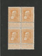 "1905 ""Grosse Barbe"" No 79a en bloc de 4,gomme d'origine avec mini adh�rences de l'ancien support cartonn�."