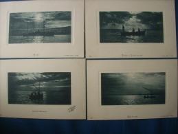 Alg�rie lot de 14 marines, bateaux - geiser alger non circul�e L171