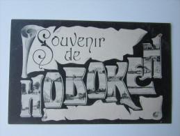Cpa/pk 1906 Souvenir De Hoboken Antwerpen Edit. Leon Vertongen - Antwerpen