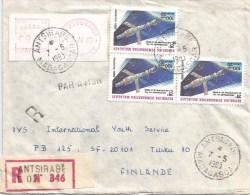 Madagascar 1983 Antsirabe sputnik space station post office meter franking Camp �PR� registered cover
