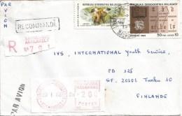 Madagascar 1986 Tananarive Analakely lemur bible post office meter franking Camp �PR� registered cover