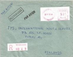 Madagascar 1981 Tananarive RP post office meter franking Camp �PR� 1004 registered cover