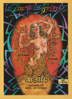 ILLUSTRATION BERG ZODIAQUE ETRUSQUE  FEMME NU NUDE ARGILE  EXCELLENT ETAT ! ! ! - Postcards