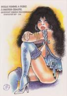 ILLUSTRATION GEO THIERCY FEMME NU NUDE  EROTISME EXCELLENT ETAT ! ! ! - Postcards