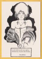 ILLUSTRATION GEO THIERCY FEMME NU NUDE DICTON DE STENDHAL LITTERATURE  EROTISME EXCELLENT ETAT ! ! ! - Postcards