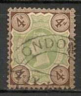 """Timbres - Grande-Bretagne - Emission Du """"Jubilé"""" - 1887-1900 - N° 97 -"""