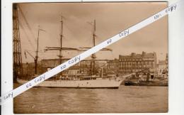 Le POURQUOI PAS ? du Commandant CHARCOT � ROUEN - Photo originale de presse