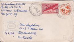 ETATS-UNIS Entier-postale Censurée + Pa26 Army Postal Service 21 Octobre 1944 Pour Hopkinsville - Interi Postali